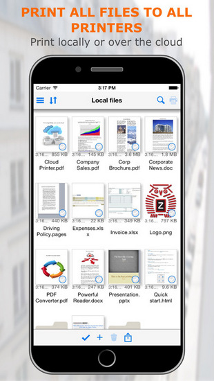 PrintCentral Pro ios