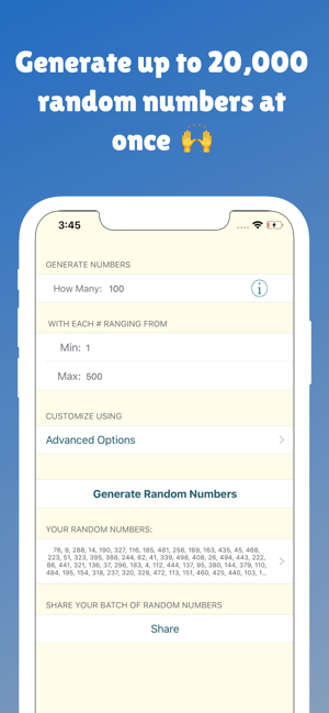 The Random Number Generator ios