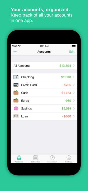SavingsApp Checkbook ios